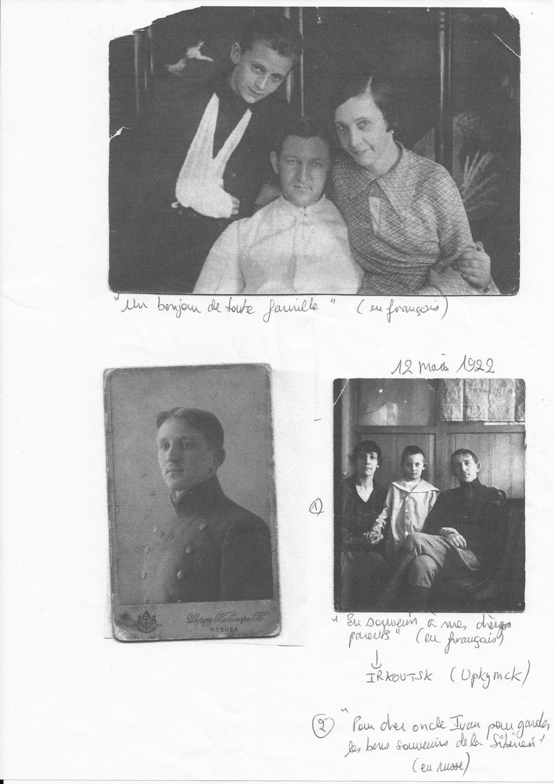La famille : Mélanie, Sergey et Igor